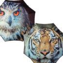 Ombrello gufo e tigre